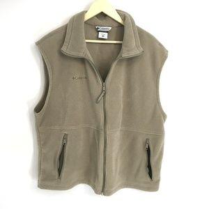 Columbia Brown Fleece Vest